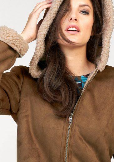 Aniston Kurzmantel, mit Kapuze
