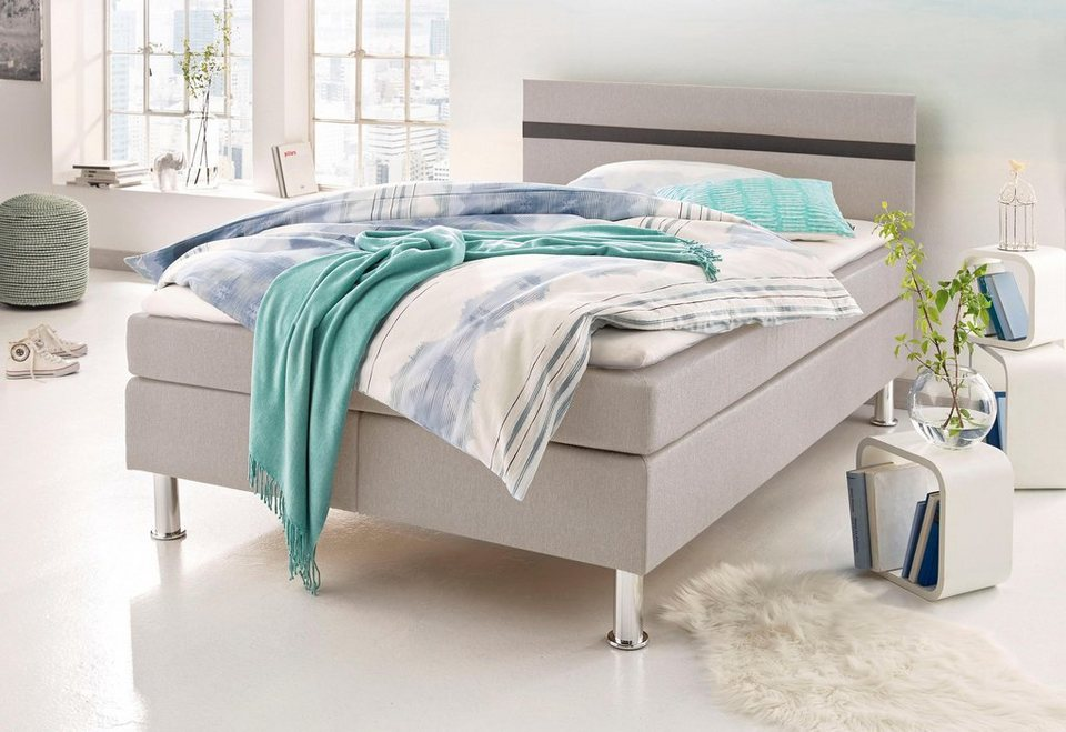 Atlantic Home Collection Boxspringbett in beige-braun