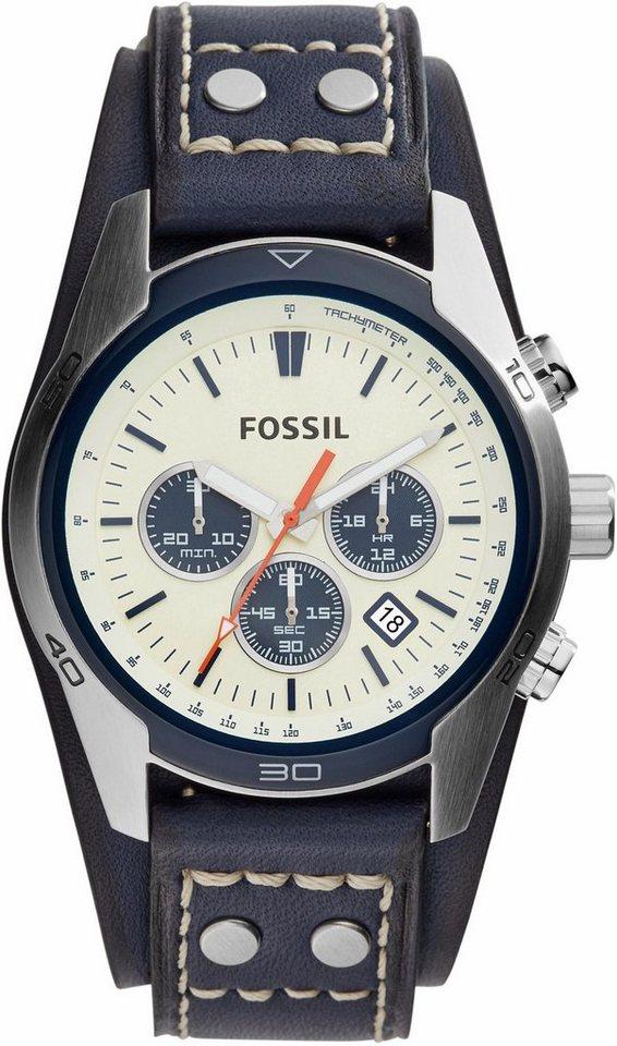 Fossil Chronograph »COACHMAN, CH3051« in blau