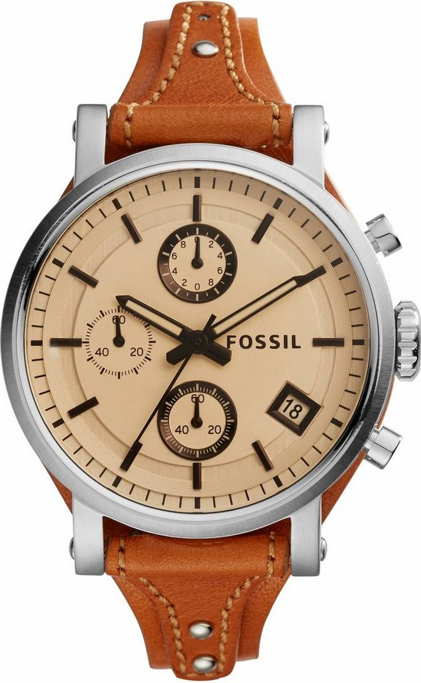 Fossil Chronograph »ORIGINAL BOYFRIEND, ES4046« in cognac