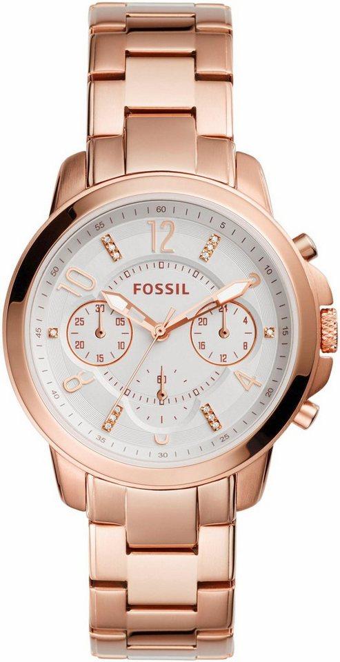 Fossil Chronograph »GWYNN, ES4035« in roségoldfarben