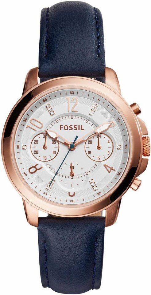 Fossil Chronograph »GWYNN, ES4040« in blau