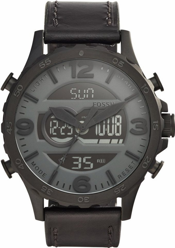 Fossil Chronograph »NATE, JR1520« in schwarz