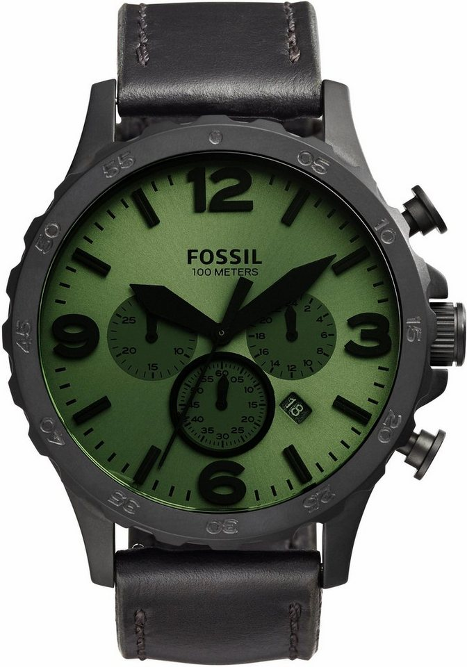 Fossil Chronograph »NATE, JR1519« in schwarz