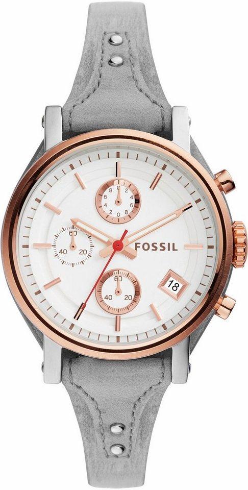 Fossil Chronograph »ORIGINAL BOYFRIEND, ES4045« in grau