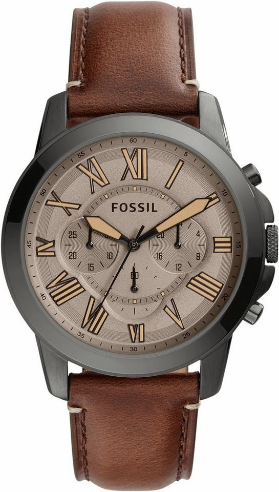 Fossil Chronograph »GRANT, FS5214« in dunkelbraun