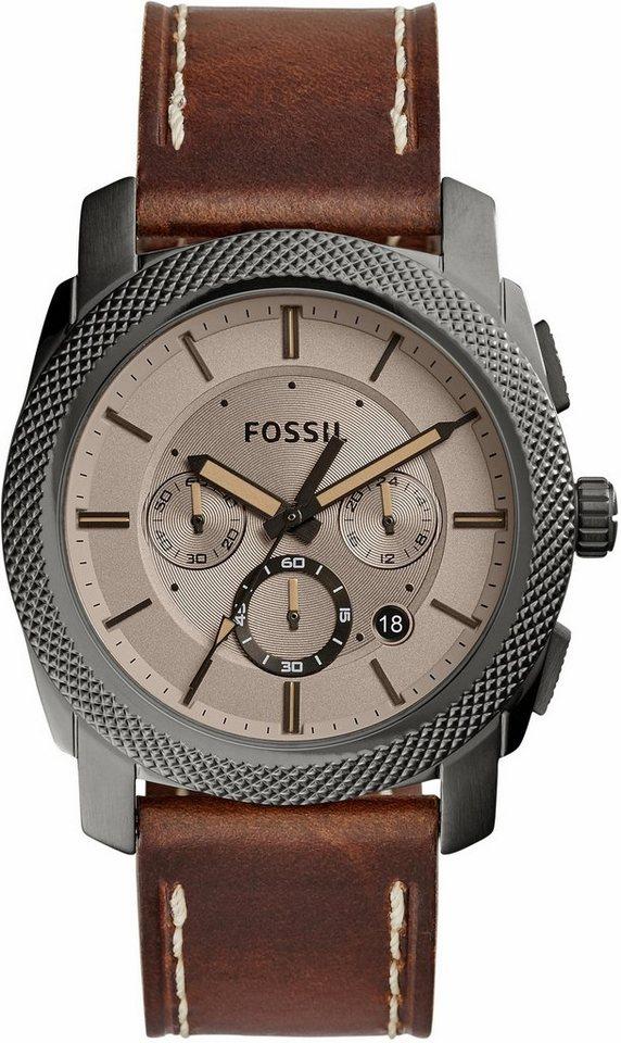 Fossil Chronograph »MACHINE, FS5215« in dunkelbraun