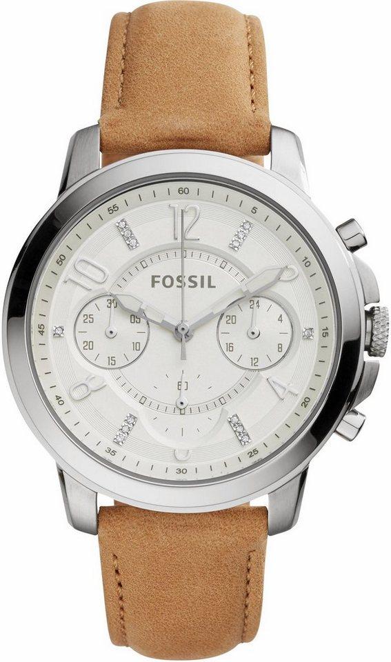 Fossil Chronograph »GWYNN, ES4038« in hellbraun