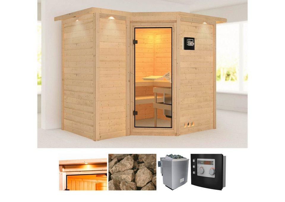 karibu massivholzsauna sahib 2 262 253 212 cm 9 kw bio. Black Bedroom Furniture Sets. Home Design Ideas
