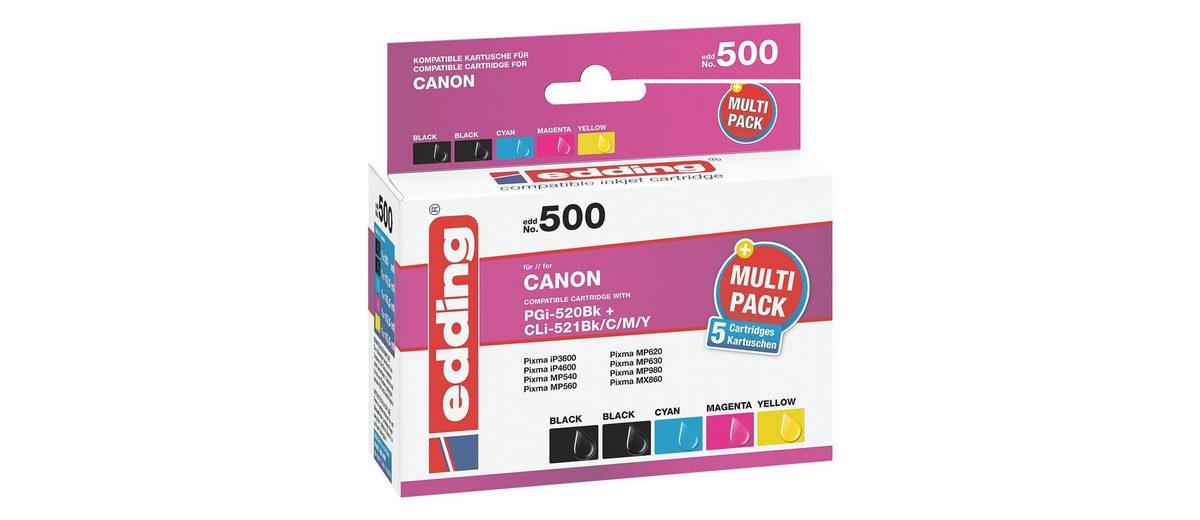 Edding 5er-Pack Tintenpatronen ersetzen Canon »PGI520 BK / CLI-...