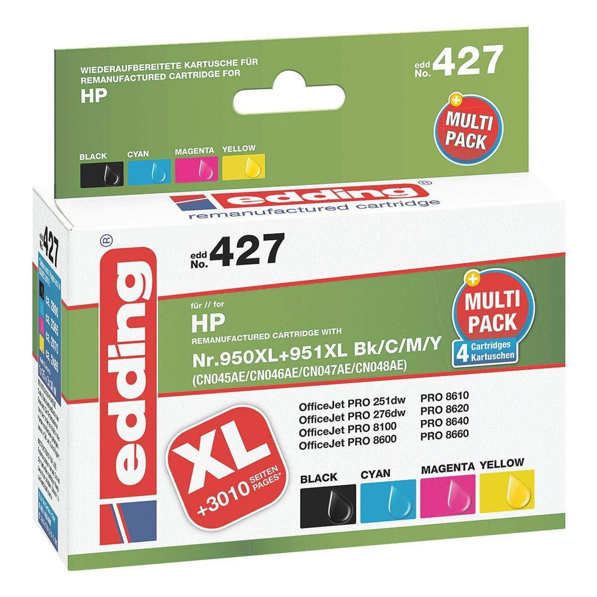 edding Tintenpatronen-Set ersetzt HP »C2P43AE« Nr. 950XL/9...
