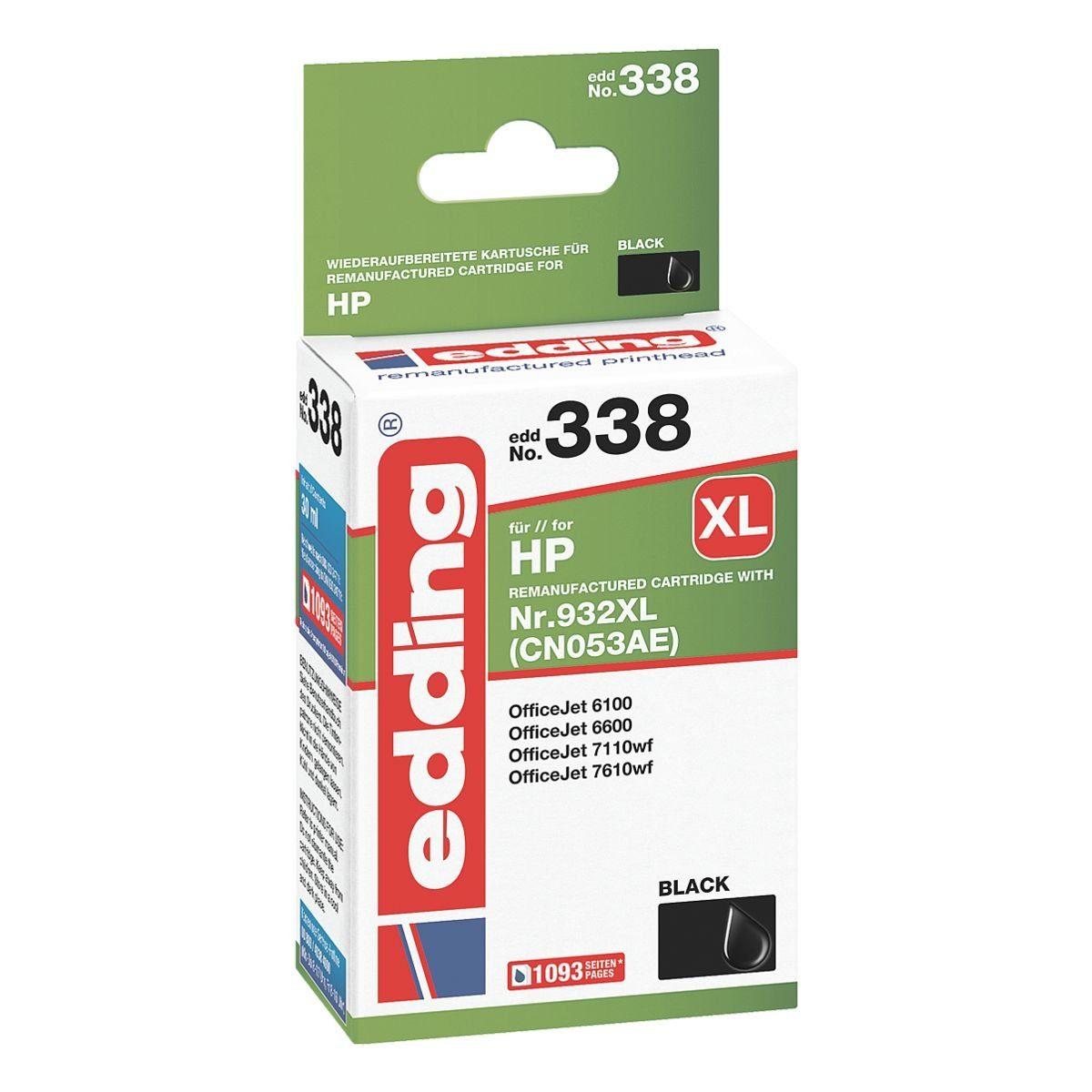 edding Nachfüllkartusche ersetzt HP »932XL (CN053AE)«