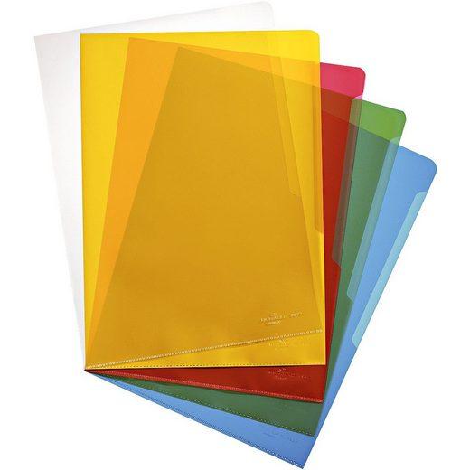 DURABLE 100er-Pack Sichthüllen A4 farbig genarbt (5 Farben zu je 20 St »2337«