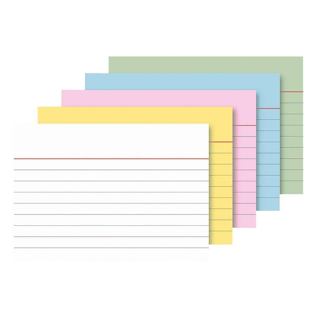 BRUNNEN Karteikarten A7 quer (105 x 74 mm), liniert
