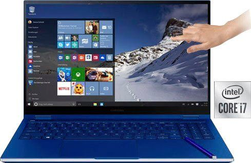 Galaxy Book Flex NP950QCG Convertible Notebook (39,62 cm/15,6 Zoll, Intel Core i7, GeForce MX250, 512 GB SSD, Kostenloses Upgrade auf Windows 11, sobald verfügbar)