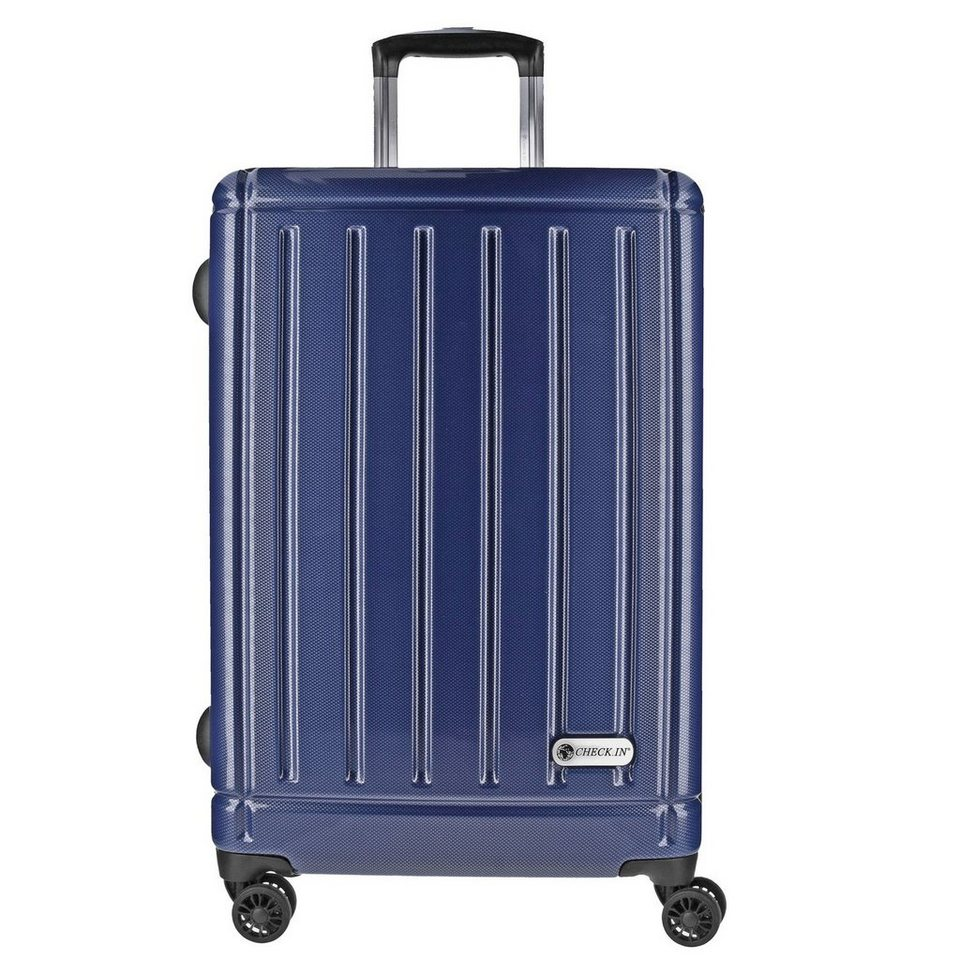 CHECK.IN Halifax 4-Rollen Trolley 69 cm in carbon blau