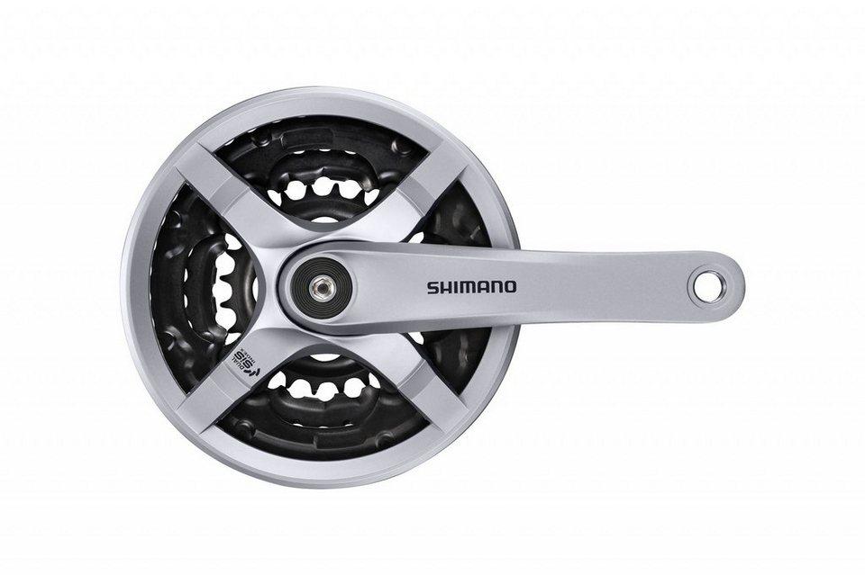 Shimano Kurbel »FC-TY501 Kurbelgarnitur 6/7/8-fach 48-38-28 Z. mit«