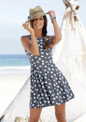 Beachtime Strandkleid mit Blumendruck