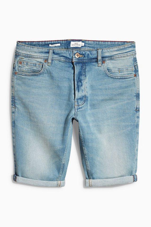 Next Skinny-Denim-Shorts in Bleach Blue