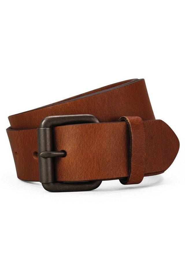 Next Gürtel aus Leder mit Rollschnalle in Hellbraun