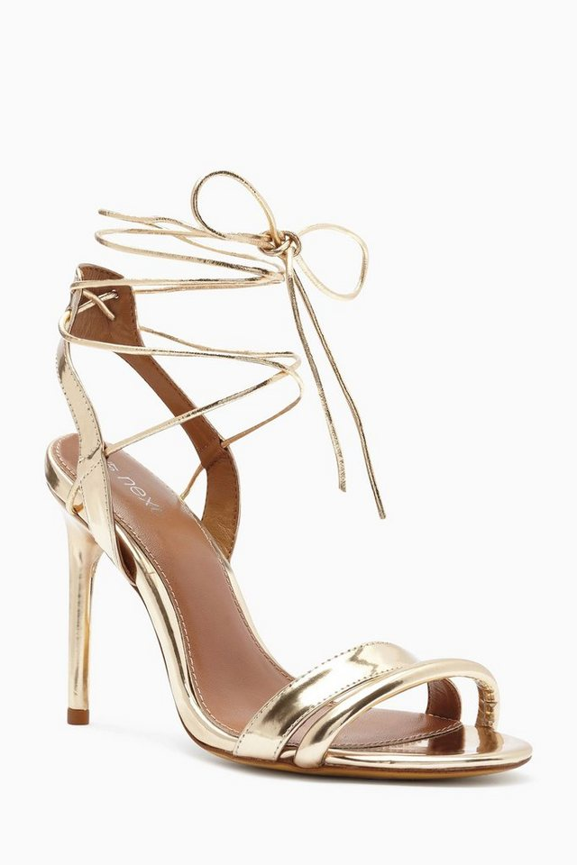 Next Sandalette mit Knöchelriemen in Gold