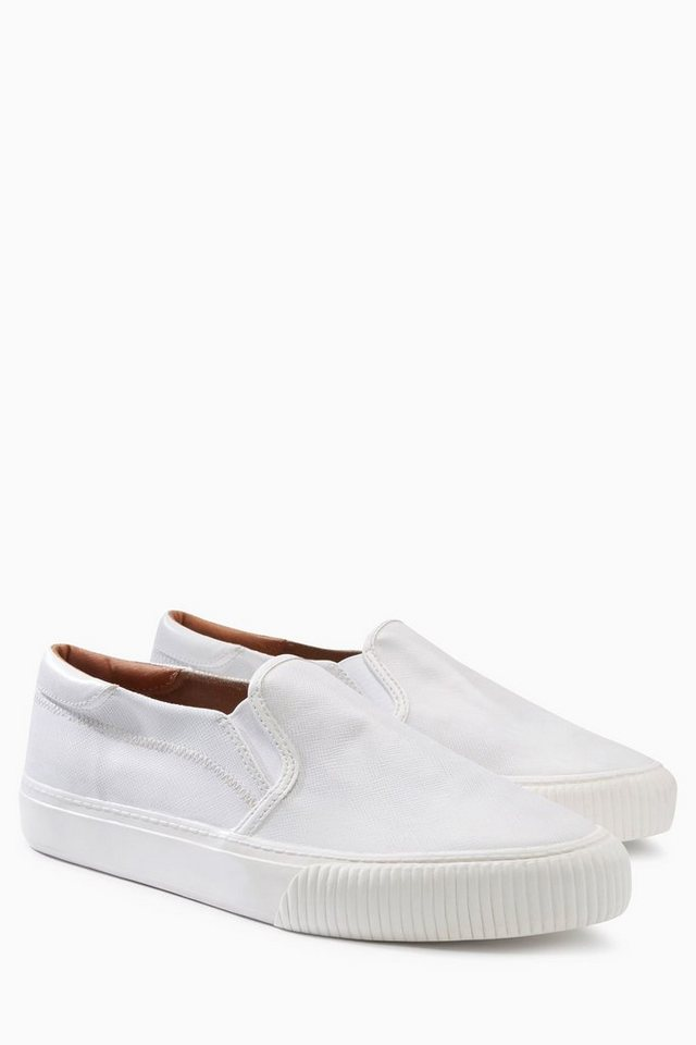 Next Slipper im Sneaker-Look in Weiß