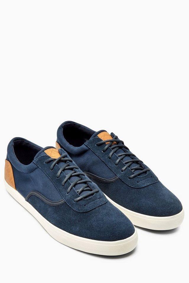 Next Sneaker aus Canvas und Veloursleder in Navy