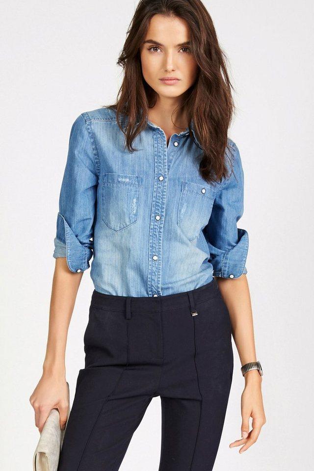Next Jeanshemd im Used-Look in Blau