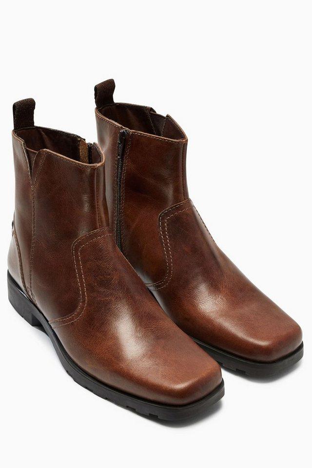 Next Stiefel mit Reißverschluss in Hellbraun