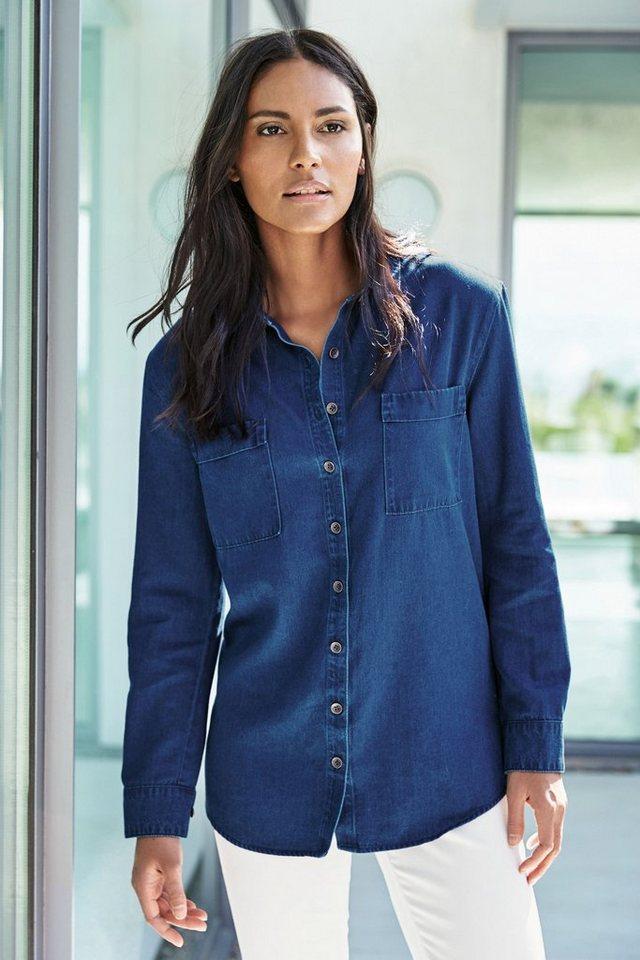 Next Denim-Bluse in Blau