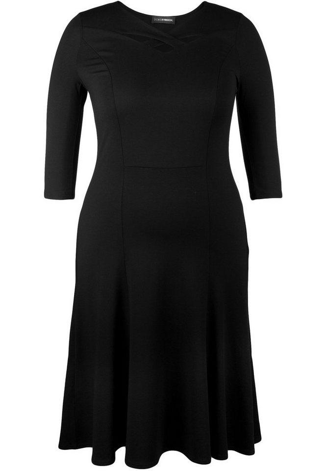 Doris Streich Jerseykleid »MIT AUSSCHNITT-RAFFINESSE« in schwarz