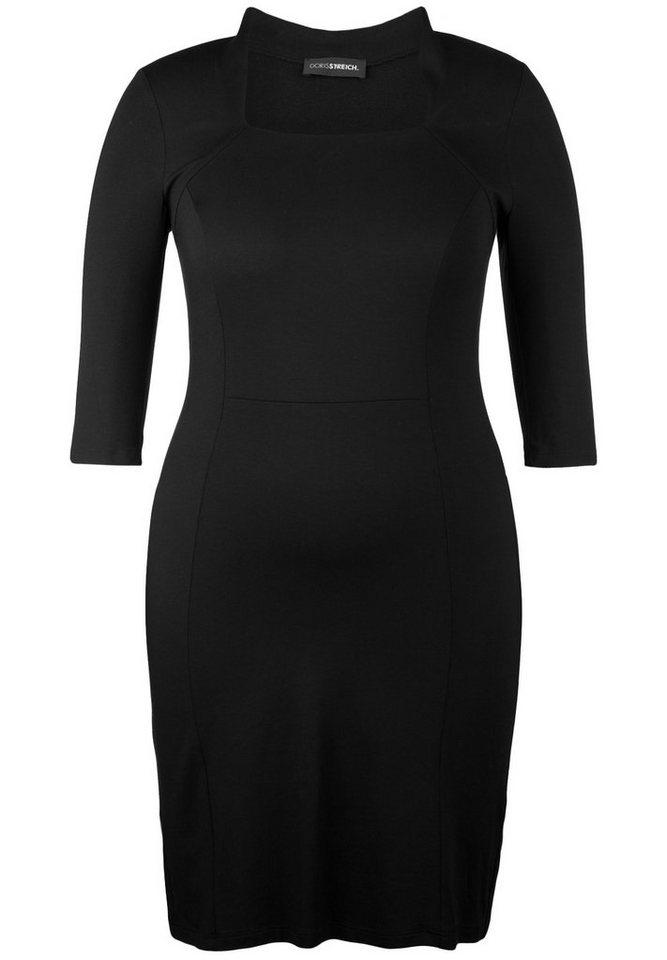 Doris Streich Jerseykleid »1/2-ARM MIT KARREE-AUSSCHNITT« in schwarz