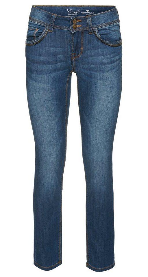 TOM TAILOR Jeans »Carrie Jeans mit Taschen-Details« in mid stone wash denim