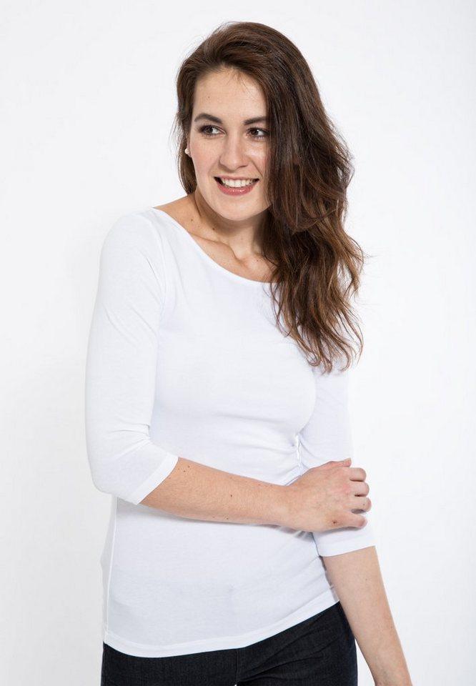 Mexx Langarmshirt in weiß