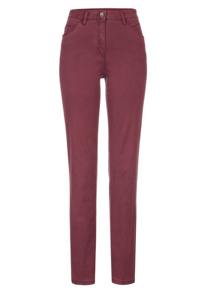 BRAX Damenhose Five-Pocket »CAROLA TREND« in BURGUNDY