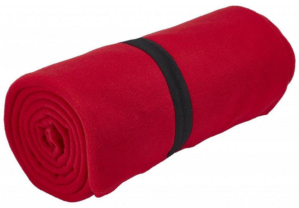 CAMPZ Reisekissen »Fleecedecke« in rot