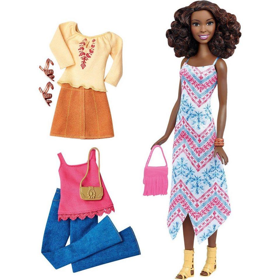 Mattel Barbie Fashionistas Style Puppe und Moden mit Fransentasche