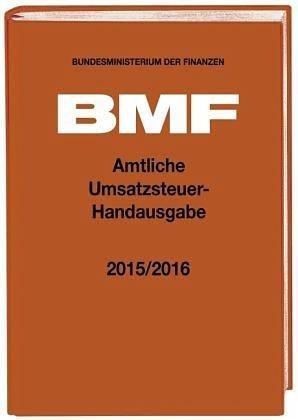 Gebundenes Buch »Amtliche Umsatzsteuer-Handausgabe 2015/2016«