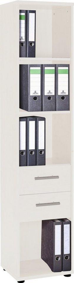VCM Aktrenregal Braso 271 / Sideboard mit Schubladen in Lichtgrau