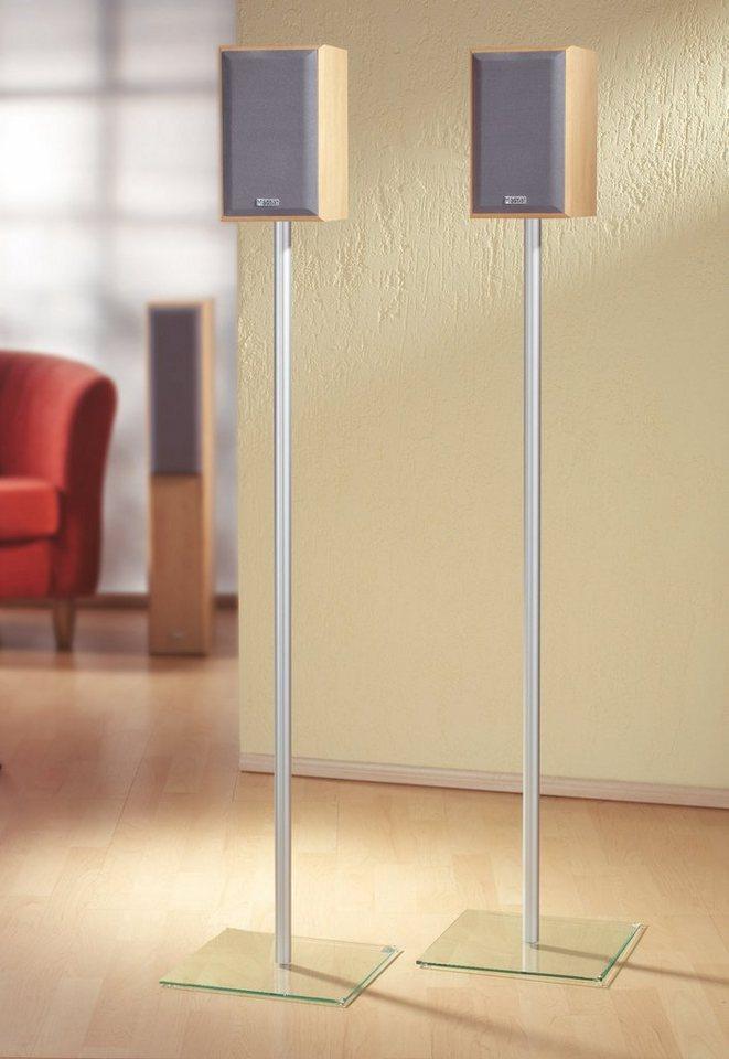 """VCM 2x Surroundstand """"Sulivo Mini"""" in Klarglas"""