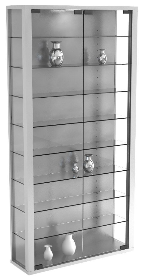 "VCM Glas Wand - Vitrine ""Vitrosa Maxi"" in Silber"