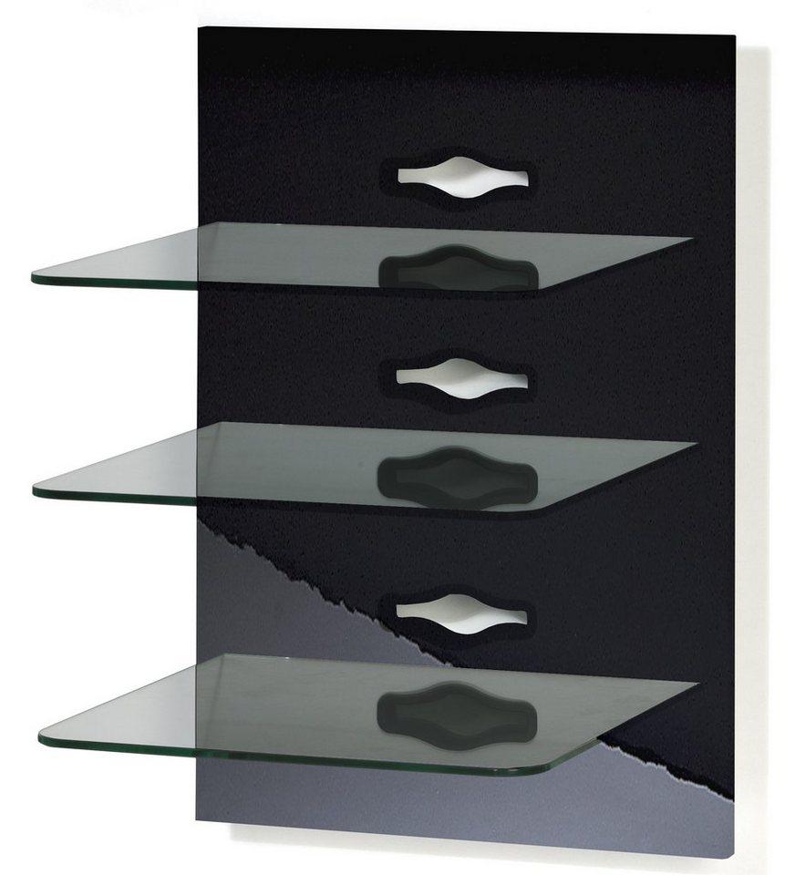 "VCM Hifi-Paneel ""Xeno-3 Klarglas"" in Schwarz"