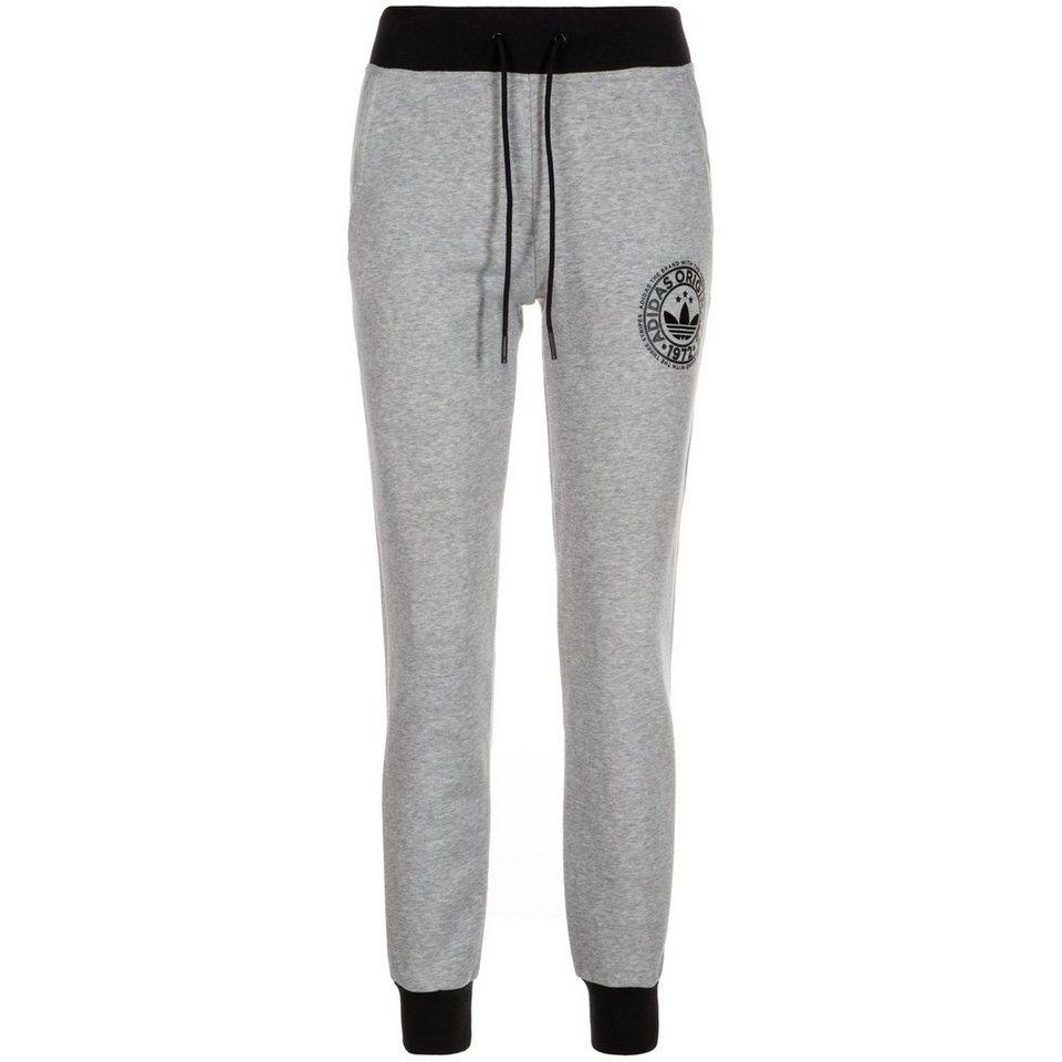 adidas Originals Cuffed Trainingshose Damen in grau / schwarz