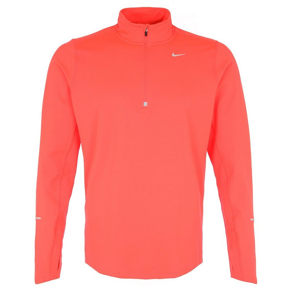 NIKE Element Half-Zip Laufshirt Herren in rot / silber