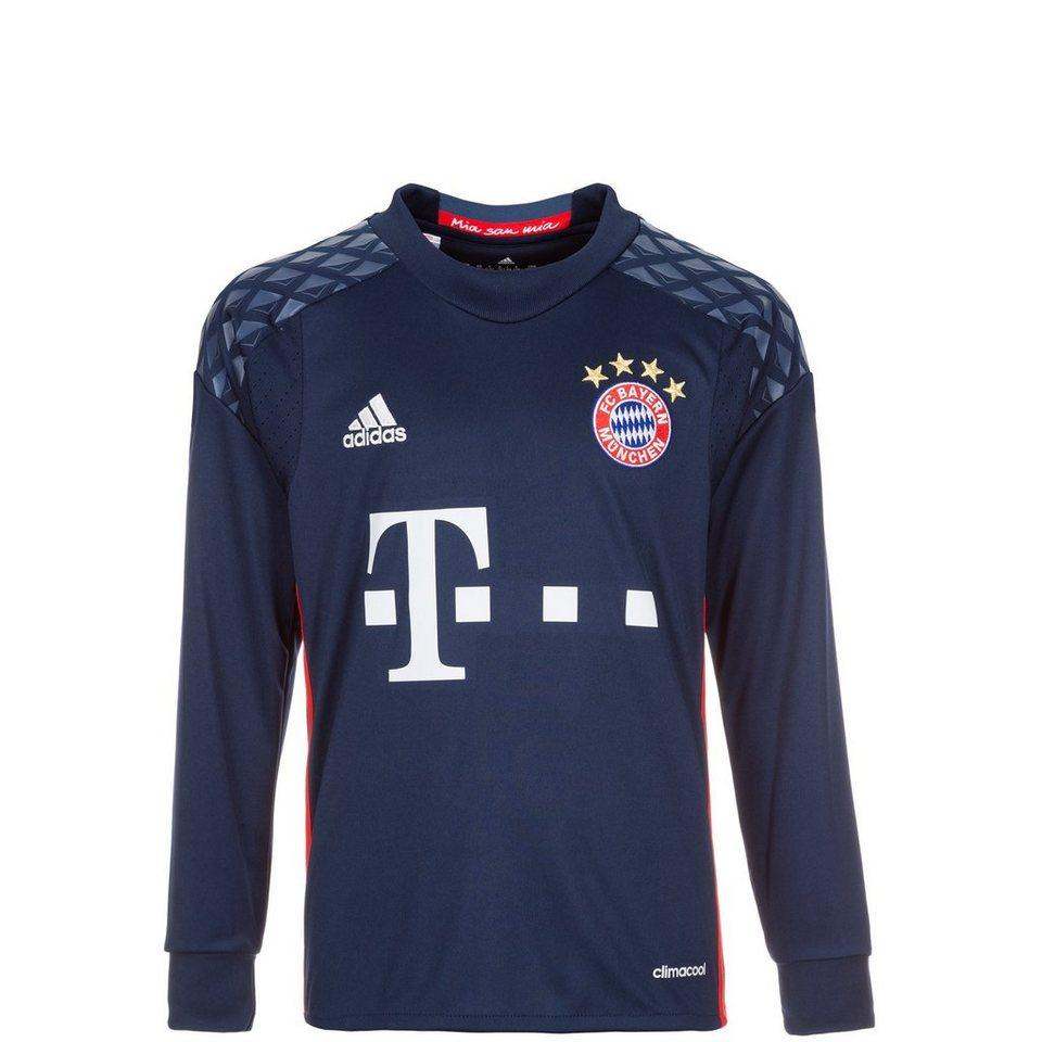 adidas Performance FC Bayern München Torwarttrikot Home 2016/2017 Kinder in dunkelblau / rot
