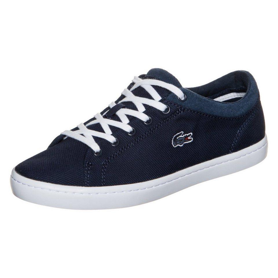 LACOSTE Straightset Sneaker Damen in dunkelblau