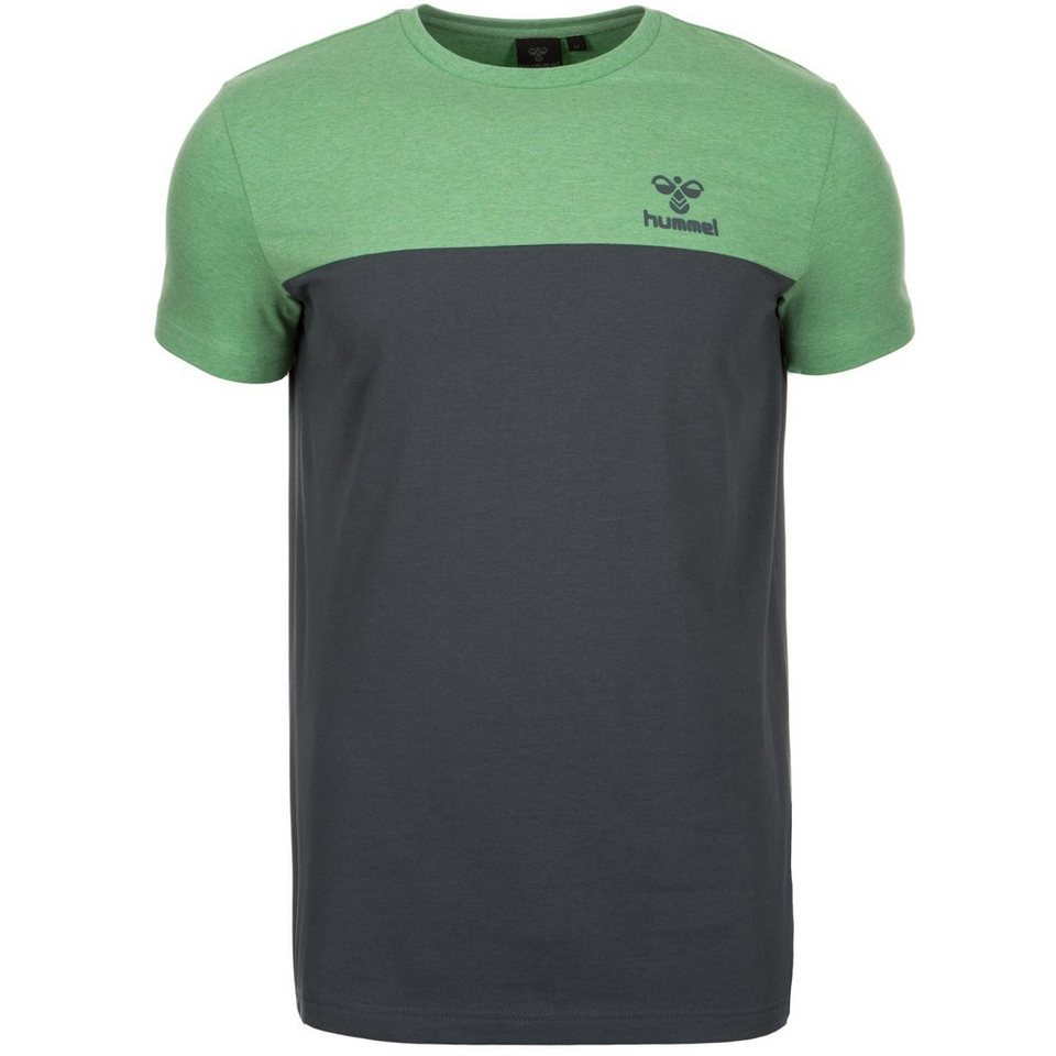 HUMMEL TEAMSPORT Classic Bee Block T-Shirt Herren in grün / grau