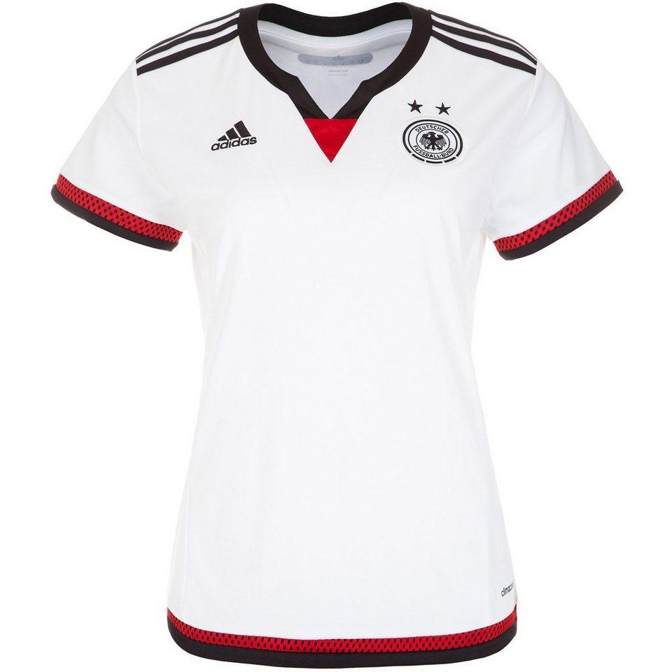 adidas Performance DFB Trikot Home WM 2015 Damen in weiß / schwarz / rot