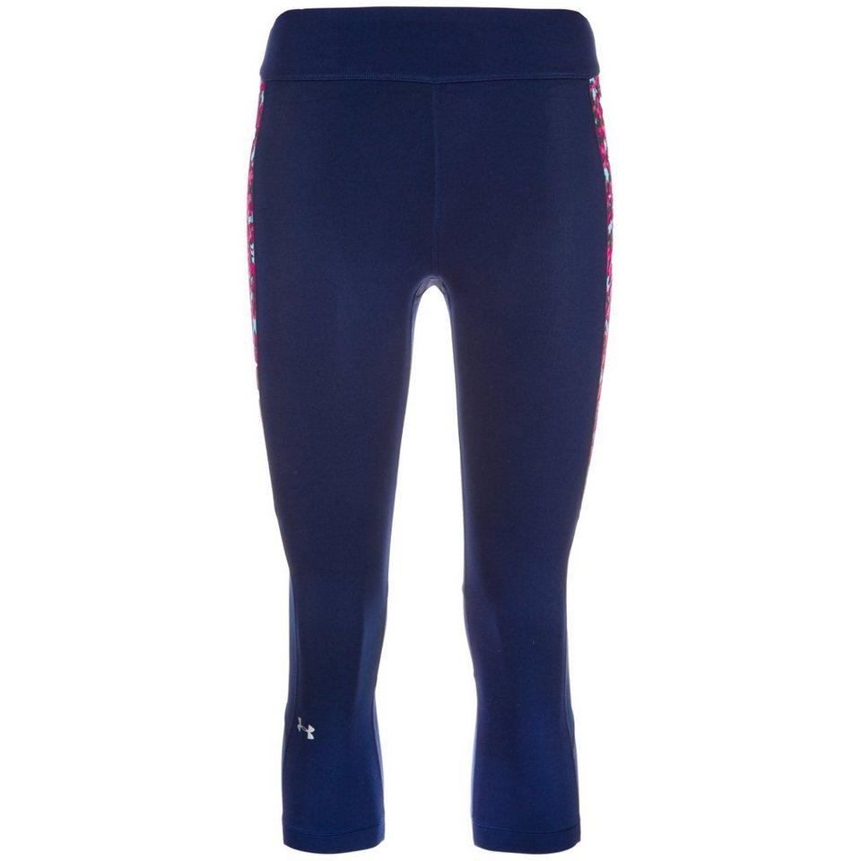 Under Armour® HeatGear PrintInset Capri Trainingstight Damen in dunkelblau