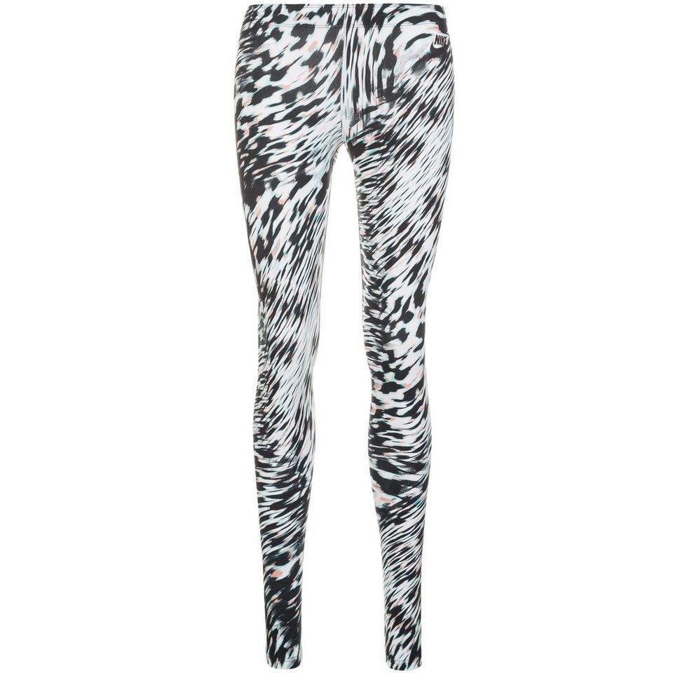 Nike Sportswear Leg-A-See Windblur Legging Damen in hellblau / schwarz